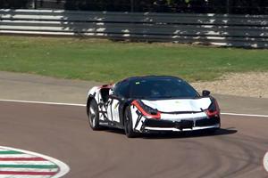 Check Out Ferrari's New V6 Hybrid Tearing Up Fiorano
