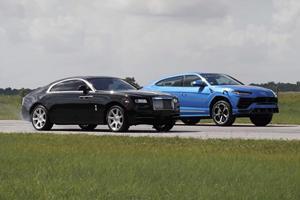 Drag Race: Lamborghini Urus Vs. Rolls-Royce Wraith