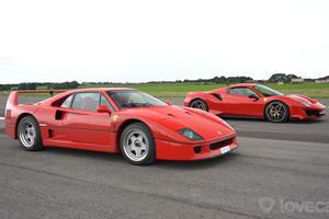 Ferrari 488 Pista Vs. Ferrari F40 Drag Race Shows How Far We've Come