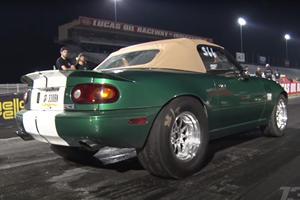Watch This Mazda Miata Pop A Wheelie On Nine-Second Run