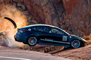 Two Tesla Model 3s Wipe Out During Practice At Pikes Peak