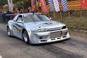 This 1,200-HP Nissan GT-R Sounds Brutal On The Hillclimb
