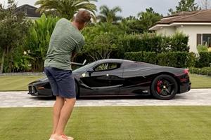 Pro Golfer Chips Ball Through His $4.9 Million Ferrari