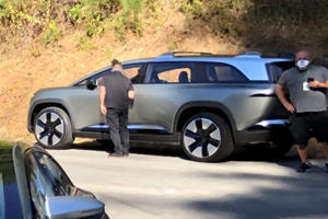Lucid's Tesla Model X Rival Spied Completely Undisguised