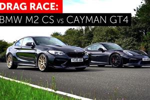 Drag Race: BMW M2 CS Vs. 981 Porsche Cayman GT4