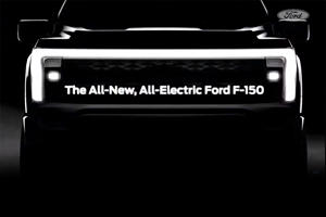All-Electric Ford F-150 Shows Off Dramatic New Face