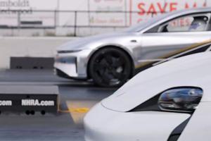 Teaser: Lucid Air Embarrasses Porsche Taycan In Quarter Mile
