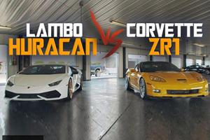 Drag Race: Corvette ZR1 Vs. Lamborghini Huracan