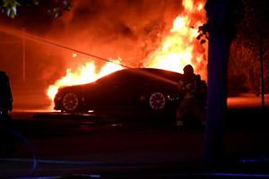 Suspected Arson Torches Tesla Vehicles