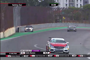 Mini Driver Gatecrashes Mercedes Race In Spectacular Style