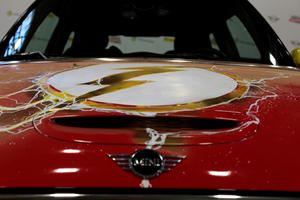 Mini Celebrates 'The Flash' With One-Off Electric Art Car