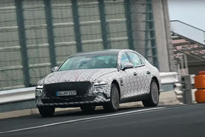 All-Electric Genesis eG80 Spied On The Move