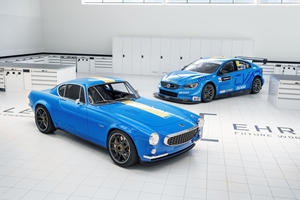 The Volvo P1800 Cyan Is A Touring Car In A Vintage Suit