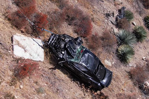 Ford Mustang GT Recovered After Falling 350 Feet Down A Cliff