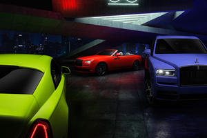 Rolls-Royce Reveals Neon Nights Editions For Black Badge Models