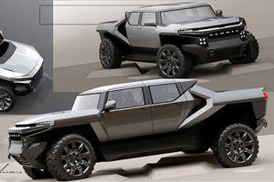 The GMC Hummer EV Almost Looked Like This