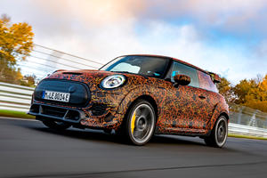 Mini's All-Electric Hot Hatch Looks Seriously Hardcore