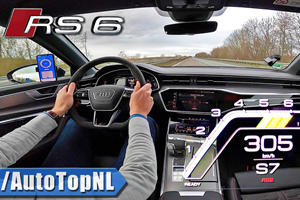 Watch This Audi RS6 Reach 190 MPH On The Autobahn