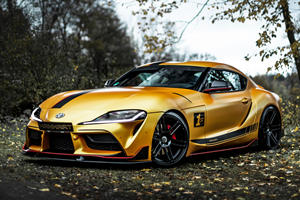 550-HP Toyota Supra Is A Gold BMW M4 Killer