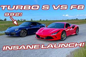 Drag Race: Porsche 911 Turbo Vs. Ferrari F8 Tributo