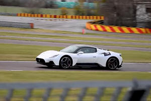 Maserati's New Supercar Looks VERY Quick On Ferrari's Test Track