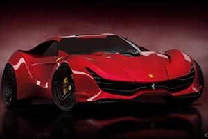 Ferrari CascoRosso Concept Is A Modern-Day Testarossa