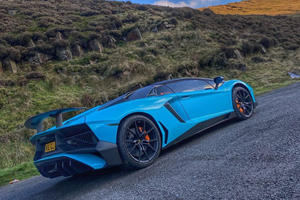 Watch A Ford Fiesta Crash Into A Lamborghini Aventador And Drive Off