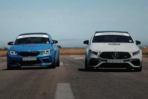 Drag Race: BMW M2 CS Vs. Mercedes-AMG A45 S