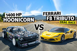 Can The Ferrari F8 Tributo Dethrone Ken Block's 1400-HP Hoonicorn?