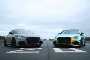 1,300-HP Audi RS Drag Race: Audi TT RS Vs. Audi RS3