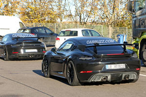 Porsche 718 Cayman GT4 RS Spied Testing With New GT3