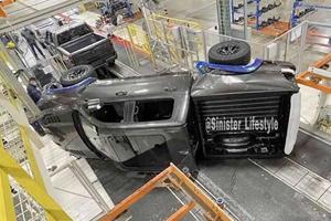 2021 Ram 1500 TRX Falls Off Factory Assembly Line