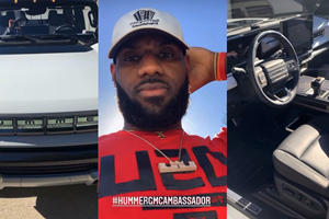 LeBron James Gives Us A Tour Of This Topless GMC Hummer EV