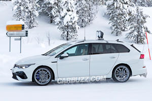 New Volkswagen Golf R Wagon Spied Completely Naked