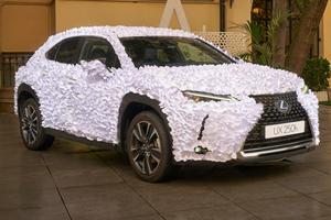 Paper-Covered Lexus UX Art Car Inspired By Japanese Zen Gardens