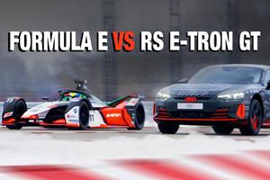 Drag Race: Audi RS e-tron GT Vs. Formula E Car