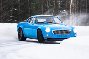 Watch The Volvo P1800 Cyan Dance In The Snow