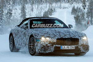 New Mercedes-AMG SL-Class Spied Having Fun In The Snow