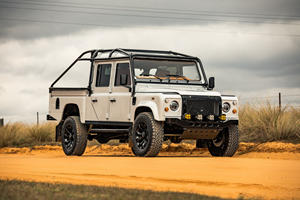 Land Rover Defender Restomod Boasts Cowhide, Sheepskin And Lots Of Wood