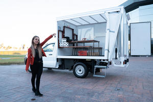 Nissan Gifts Teacher Pickup Converted Into Mobile Classroom