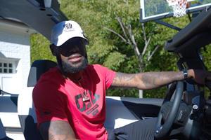 LeBron James Has No Problem Fitting Inside The Hummer EV Pickup