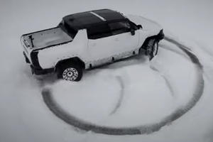 Watch The Hummer EV Crabwalk Its Way Through The Snow