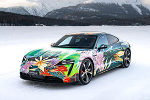 Porsche Taycan Goes Floral For A Cause