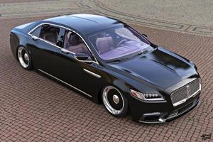 Slammed Lincoln Continental Looks Devastatingly Sinister