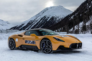 Watch The Maserati MC20 Battle An Italian Ice Circuit