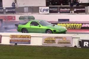Mazda RX-7 With Turbocharged Chevy V8 Is A Drag Strip Killer