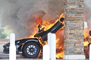Watch A McLaren 765LT Go Up In Flames