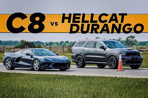 Drag Race: Durango SRT Hellcat Vs. Corvette C8 Stingray
