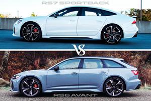 Fast Audi Showdown: RS6 Avant Vs. RS7 Sportback