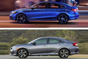 2022 Vs. 2021 Honda Civic Sedan Design Comparison